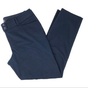The Limited Navy Crop Straight Leg Pants